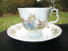 CUP SAUCER ROYAL DOULRON BRAMBLEY HEDGE THE BIRTHDAY MICE & BUNNY ANIMALS