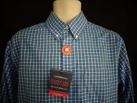 NWT Croft & Barrow Blue Plaid Long Sleeve Shirt Men's  S
