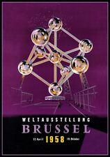 1958 BRUSSELS BELGIUM WORLDS EXPOSITION ATOMIUM WELTAUSSTELLUNG  A3 REPRINT V.2