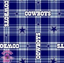 Dallas Cowboys NFL Plaid Fleece Fabric 6391 D