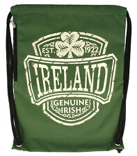 Green Ireland College Drawstring Bag String Backpack Gym Mens Womens