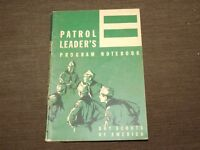 VINTAGE BSA BOY SCOUTS OF AMERICA 1965 PATROL LEADER'S PROGRAM NOTEBOOK BOOK