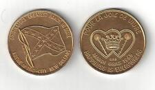 1965 CONFEDERATE REBEL FLAG CSA GOLD ALUMINUM COIN TOKEN MEDAL DIXIE CIVIL WAR