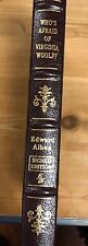 EDWARD ALBEE SIGNED - WHO'S AFRAID OF VIRGINIA WOOLF - EASTON PRESS LEATHER NEW