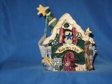 """New Heather Goldminc Blue Sky cl20007 """"Rudolphs Place"""" Candle Christmas House"""