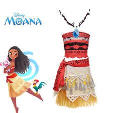 Disney Moana Princess Dress Girl Child Kids Cosplay Hawaiian Costume Fancy Dress