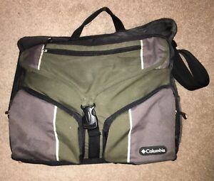 Columbia Outfitter Messenger Baby Diaper Bag, Green Black & Gray - Good For Men