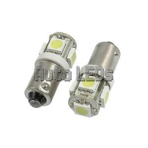 1 White 5 x 5050 LED BA9s 12v Interior LED Bulb
