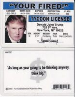 President Donald Trump TYCOON LICENSE - New York Drivers License FAKE ID card