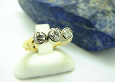 Brillant Ring 750 Gold 18kt Bicolor 0,60Ct! 5,2 Gramm Diamantring