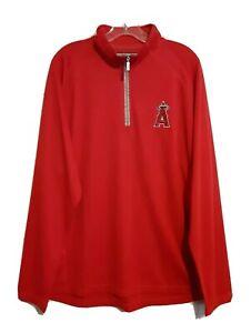 New Los Angeles Angels Mens Tommy Bahama Red Half Zip MLB Baseball Sweatshirt XL