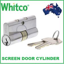 Whitco Security Screen door Barrel cylinder Lock Cylinder 2 Keys key alike