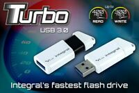 Integral TURBO FAST USB 3.0 Flash Drive 400MB/s 300MB/s 64GB 128GB 256GB 512GB