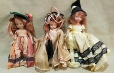 Vintage Nancy Ann Storybook Dolls Two Composition One Plastic