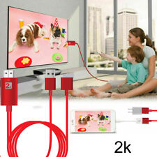 2K Micro USB Type C iOS to HDMI Cable TV Adapter For Samsung S8 S9 S10 iPhone 11