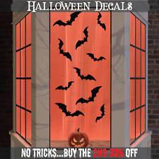 Halloween FINESTRA ADESIVI Decorazione Muro Decalcomania Spettrale Festa  Bambini Nero 10x BAT 1ef0f9f39a54