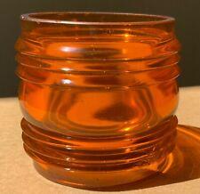 New listing Vintage Round 360 Degree Orange Fresnel Lens