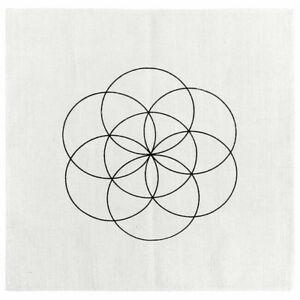 Crystal Grid Cloth Healing Reiki Sacred Geometry Metaphysical Yoga Altar Cloth
