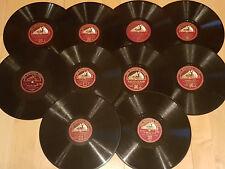 10 englische Tanzorchester FOXTROT Schellackplatten HIS MASTERS VOICE Grammophon