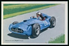 Bugatti France Automobile motor racing car race original 1950s Tobler postcard
