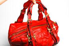 DKNY Handbag,  Genuine Leather Red  Bag purse Gold Hardware