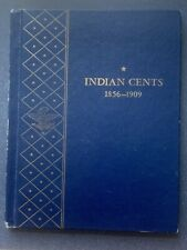 USED INDIAN CENTS WHITMAN ALBUM #9402 - 1856 to 1909 - NO COINS