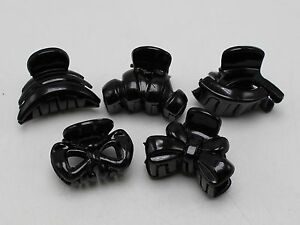 10 Assorted Black Plastic Mini Hair Claw Clamp Clips Bangs clips For Women Girls