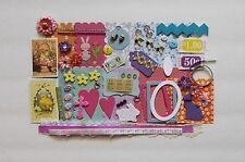 Vintage Easter ITTY BITTY Chipboard Mini Book Album DIY Kit Scrapbooking