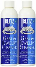 2 Pack Blitz Concentrated Jewelry Cleaning Liquid For Ultrasonic Cleaners 8 Oz