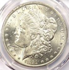 1891-CC Morgan Silver Dollar $1 PCGS Uncirculated Detail - UNC MS with Scratches