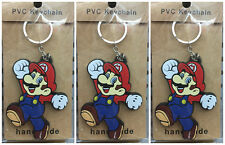 20Pcs happy Super Mario PVC children's KeyChain Cartoon key chain Party Gifts