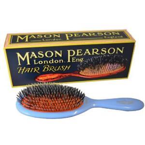 Mason Pearson BN2 Junior Bristle & Nylon Hairbrush – Blue - Made in England