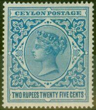 Ceylon 1899 2R25 Dull Blue SG264 Fine Mtd Mint