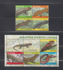 Philippine Stamps 2011 Philipppine Endemic Lizards Complete Set, MNH