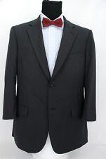 Ermenegildo Z Zegna 2Btn Suit Jacket Sport Coat Black Gray Stripe Wool 44R