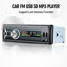 12V FM Car Stereo Radio Bluetooth 1 DIN In Dash Handsfree USB/SD AUX Head Unit