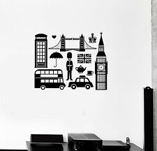 Vinyl Decal English England Symbol Big Ben London Wall Stickers Mural (ig3331)