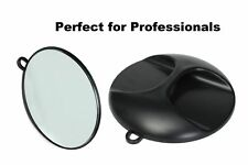Hand Held Round Mirror Back Professional Barber Salon Hair Beauty Hairdresser