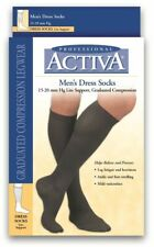 FLA H2563 Activa Men Dress Knee Compression Socks 15-20mmhg Supports Therapy, LG
