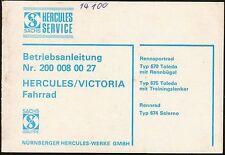 Betriebsanleitung -  Sachs Hercules / Victoria Fahrrad