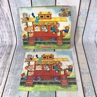 Vintage Clubhouse Caboose Jigsaw Puzzle 48 Pieces Complete RARE 1984 Age 5+