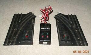 LIONEL 027 Gauge 1122 SWITCHES w/ Remote Controller & Lanterns - WORKS GOOD  101