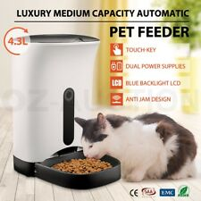 4.3L Program Auto Digital LCD Pet Cat Dog Feeder Food Bowl Dispenser Automatic