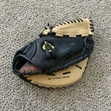 """Awesome Wilson A1K A1000 CATCHERS Mitt 34""""Right Hand Throw Fpcm"""