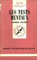 Livre les tests mentaux Pierre Pichot book