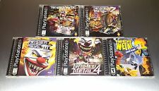 Twisted Metal 1, 2, 3, 4, Small Brawl ☆ Complete, MINT CASES ☆ PS1 Playstation 1