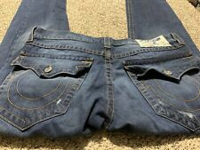 TRUE RELIGION SLIM DESIGNER MEN'S JEANS SIZE 36X32