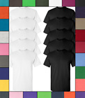 Gildan Mens Ultra Cotton T-Shirts 10-Pack 6.0 oz 100% Preshrunk Tees S-3XL G200