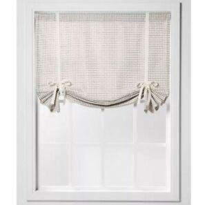 "Threshold 42""x63"" Honeycomb Light Filtering Balloon Window Shade Gray, New"