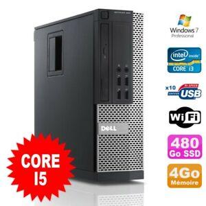 PC Dell Optiplex 990 SFF I5-2400 3.1GHz 4Go Disque 480Go SSD DVD Wifi W7
